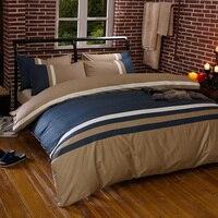 100% algodão têxteis para casa listra 4 pçs conjuntos de cama gêmeo rainha king size roupa incluem capa edredão folha fronha