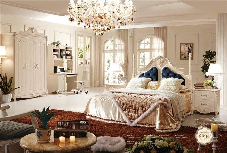 €903.66 |Meubles de style italien classique de luxe nouveaux meubles de  chambre à coucher classiques ensemble de meubles de chambre à coucher-in  Lits ...