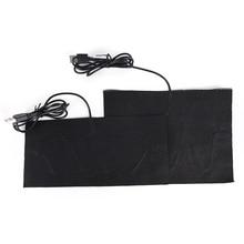 USB с подогревом куртка пальто жилет аксессуары из углеродного волокна с подогревом колодки теплый сзади шеи быстрый нагрев