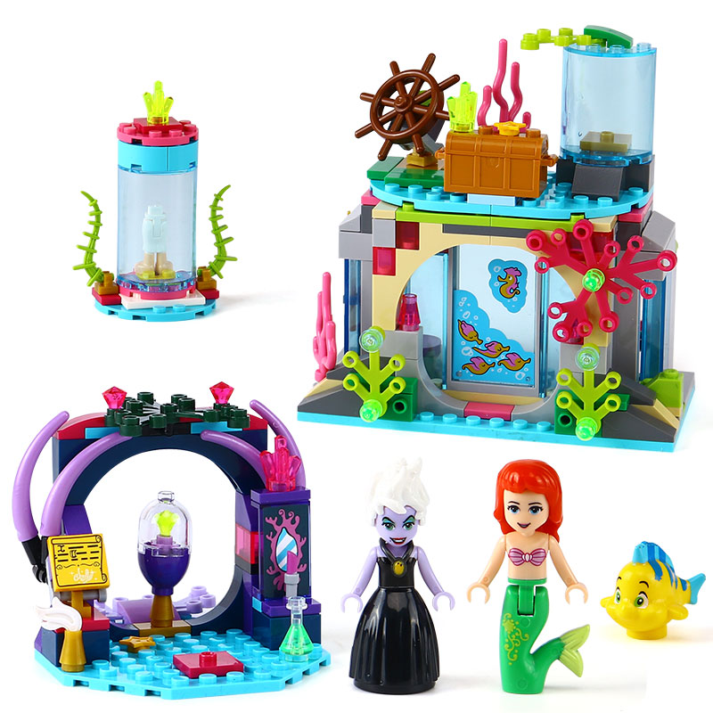 LEPIN 25010 Princess series Ariel and magic spell Model Building Block Set Brick Toys For Children compatible legoing 41145 Gift lepin 22001 pirate ship imperial warships model building block briks toys gift 1717pcs compatible legoed 10210