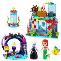 Lepin 25010 Serie de la princesa Ariel y hechizo mágico modelo del bloque hueco del ladrillo Juguetes para niños compatible legoing regalo 41145