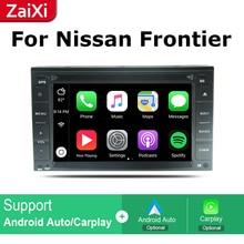 ZaiXi 2Din For Nissan Frontier Navara 2005~2014 Car Android Radio Multimedia Player GPS Navigation IPS Screen HiFi WiFi BT