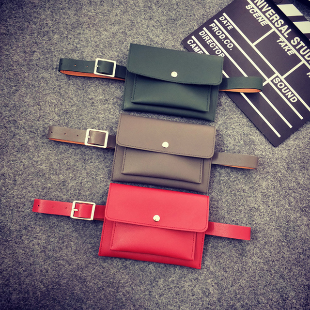 2018 PU Belt Fanny Pack for Women Hengreda Two-layer Pockets With Removable Belt Phone Pouch Travel Small Waist Bag Coin purse
