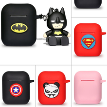Marvel Cartoon Silicone Bluetooth Earphone Case For Apple AirPods Ultra-thin Cute Protection Cover For AirPods Charger Box Funda