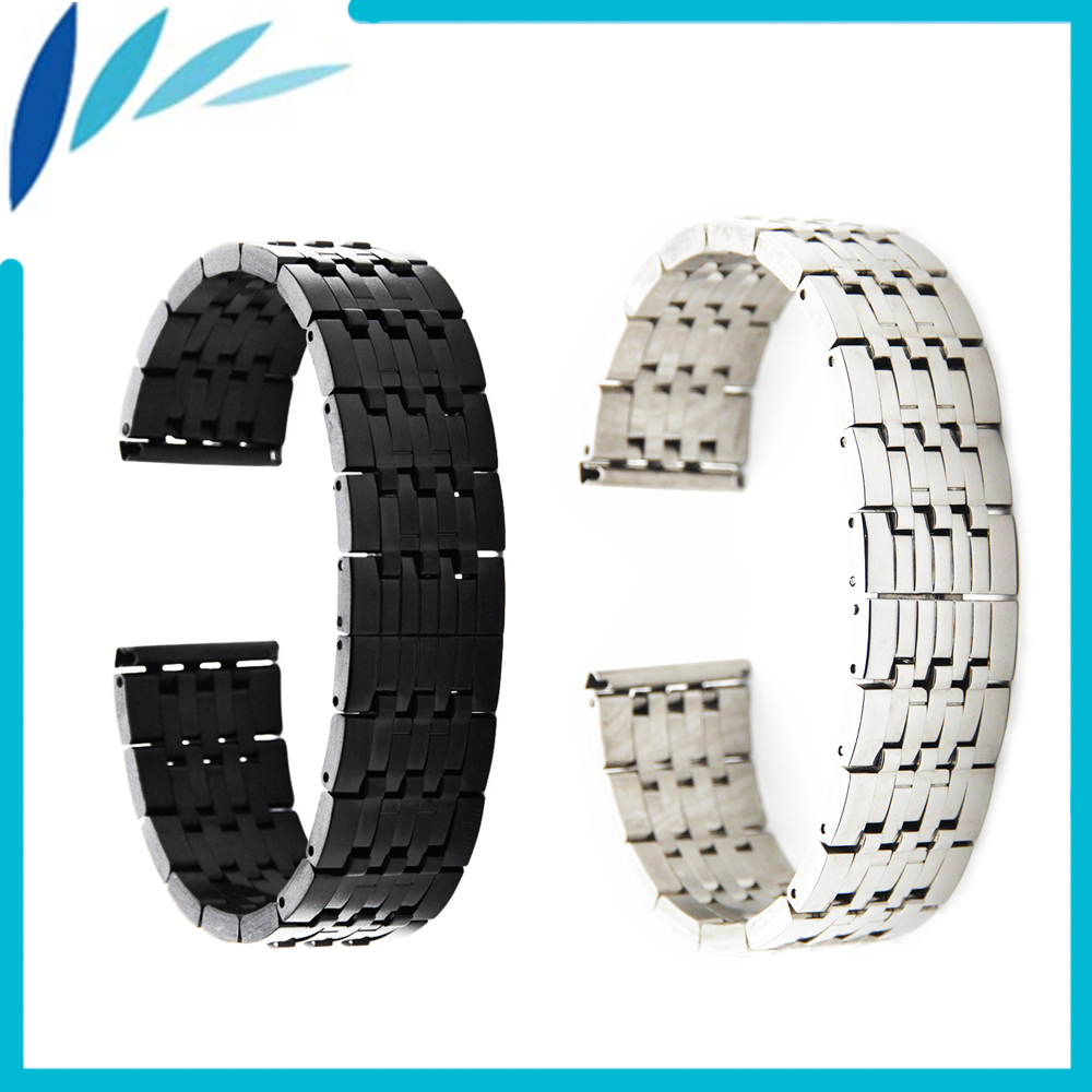 Stainless Steel Watch Band 22mm for IWC Strap Wrist Loop Belt Bracelet Black Silver + Spring Bar + Tool stylish 8 led blue light digit stainless steel bracelet wrist watch black 1 cr2016