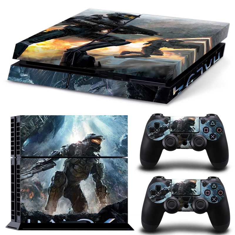 Free Shipping Halo4 Vinly Skin Sticker for Sony PS4 PlayStation 4 and 2 controller skins  #TN-PS4-0020