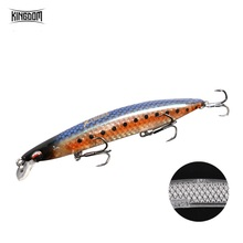 Kingdom Fishing Hard Lure Jerkbait Wobblers 95mm/125mm/140mm High Quality Floating Minnow 3D Inside Hologram 5 Colors Model 3506