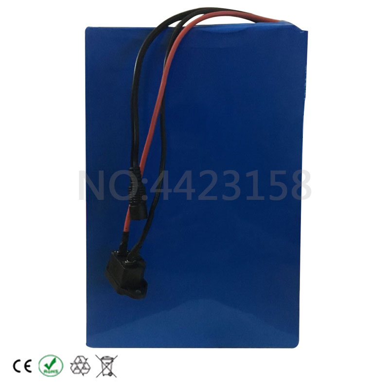 Best Big Capacity 48 Volt Batteries 48V 20Ah Li-ion Battery for Electric Bike with PVC case Built in 13S 30A BMS + 2A CC/CV Charger 4