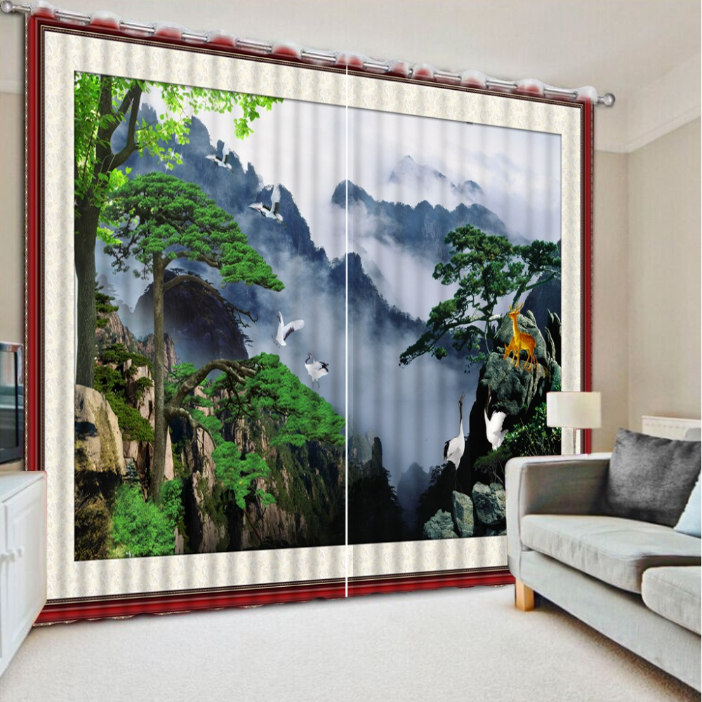 Beautifully Kitchen Door Curtains: Chinese Window Curtain Living Room Beautiful Fantasy