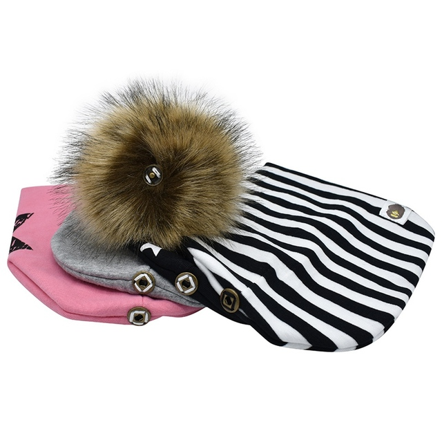 Cute Outdoor Fashion Toddler Faux Raccoon Fur Hat Baby Girl And Boy Infant  Winter Warm Knitted 7a5351dacfb