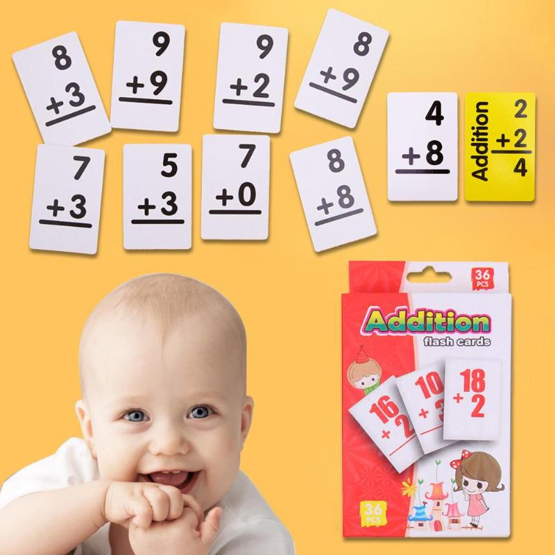 Aggressive 36pcs/set Baby Kids Math English Learning Arithmetic Cards Montessori Educativos Baby Learning Educational Table Game Puzzle Toy Sufficient Supply Toys & Hobbies