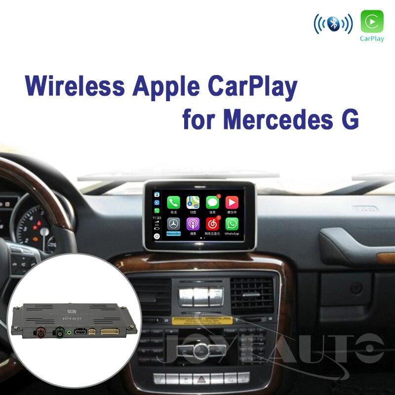 Joyeauto Wifi sans fil Apple Carplay pour Mercedes classe G W463 12-15 NTG4.5/4.7 Support de jeu de voiture caméra inversée Waze Spotify