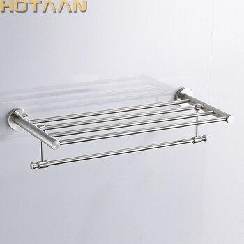 FREE SHIPPING, Bathroom towel holder, 304#stainless steel  satin nickel towel rack,60cm round  towel rack ,YT-10301