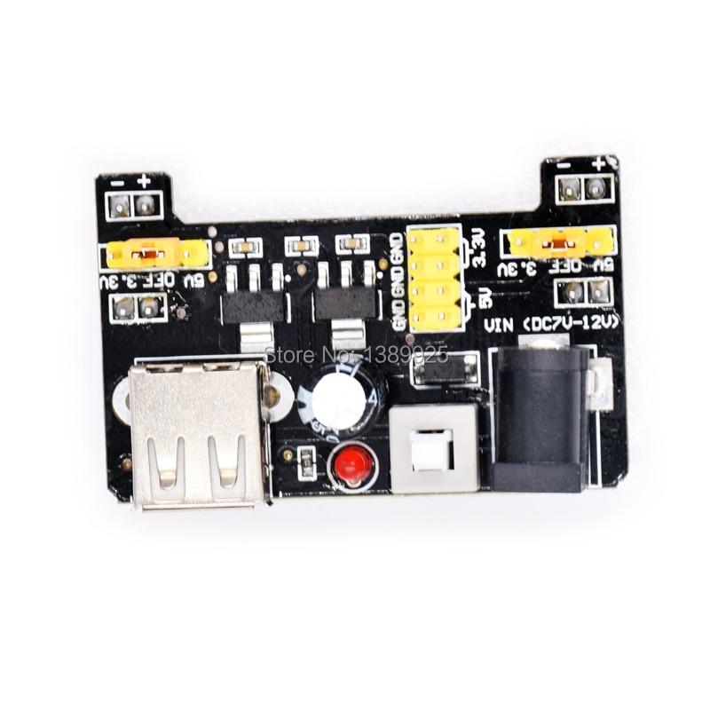 Wholesale 10pcs/lot MB102 Breadboard  3.3V 5V Solderless Bread Board For DIY Voltage Regulator