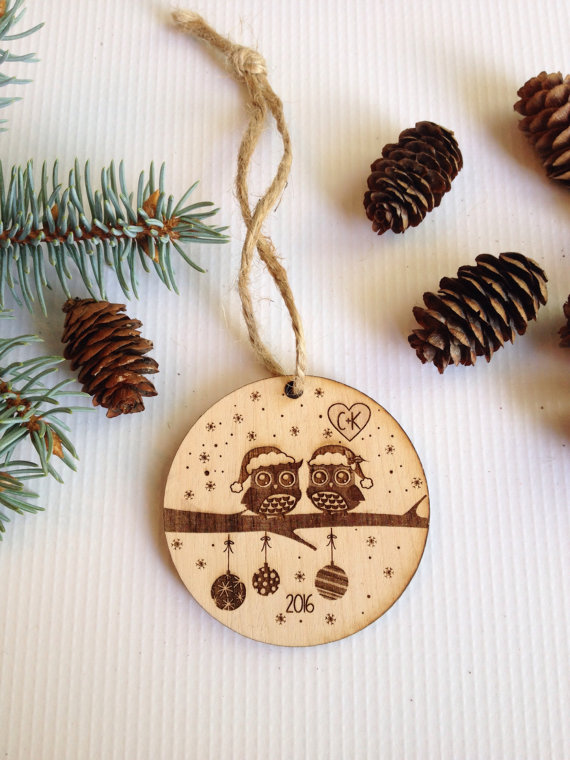 Personalized Christmas ornament, engraved Christmas ...
