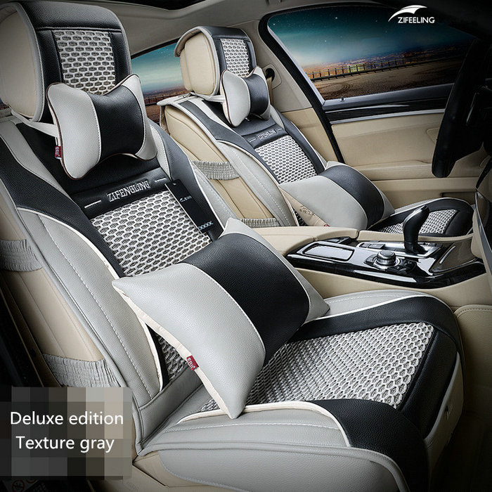 Brand New styling Luxury Leather Car Seat Covers Front Rear Complete Set for Universal 5 Seat