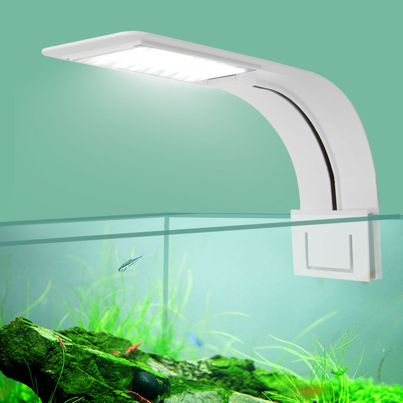 Super Slim LED Aquarium Light Lighting plants Grow Light 5W/10W/15W Aquatic Plant Lighting Waterproof Clip-on Lamp For Fish Tank 15w aquarium clip lamp fish tank light led display intelligent touching control changeable light color temp inductor water plant