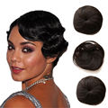 27 Pieces Short Hair Weave Extensions with Closure 4'' after Expansion Straight MalaysiaVirgin Hair Weaving Extension 6A