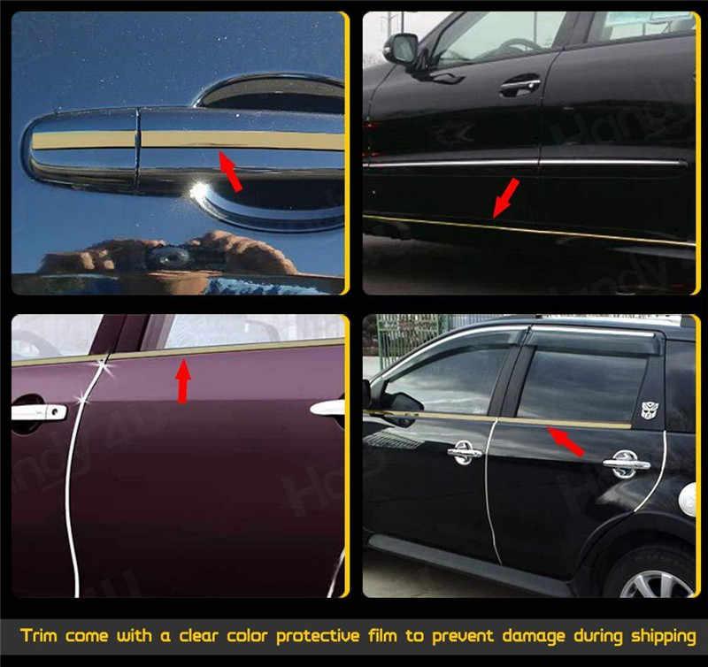5 متر الخارجي سيارة كروم الجسم قطاع الوفير السيارات الباب واقية صب التصميم تقليم ملصقا 6 مللي متر 10 مللي متر 12 مللي متر 15 مللي متر 20 مللي متر 25 مللي متر 30 مللي متر