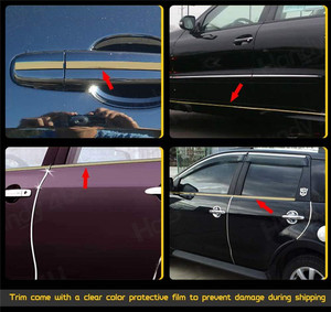 Image 5 - 5M Exterior Car Chrome Body Strip Bumper Auto Door Protective Moulding Styling Trim Sticker 6MM 10MM 12MM 15MM 20MM 25MM 30MM