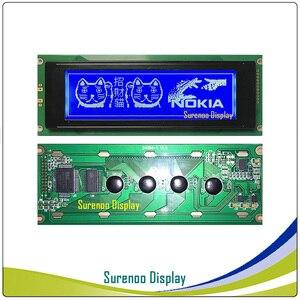 Image 3 - 24064 240*64 matriz gráfica lcd módulo display tela build in ra6963 controlador amarelo verde azul com luz de fundo