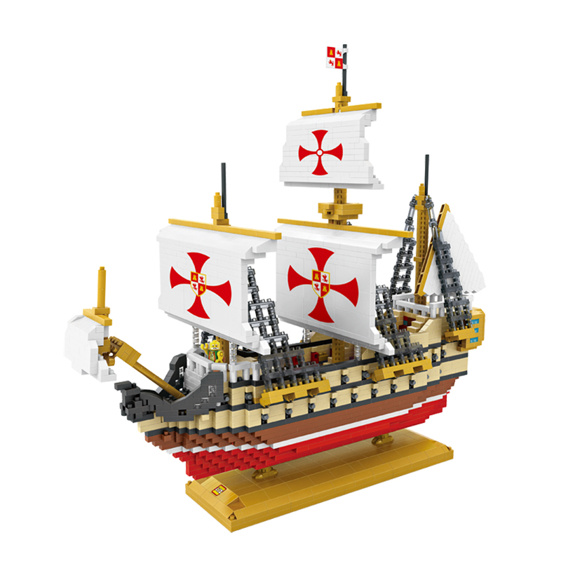 LOZ 9048 Diamond Blocks Santa Maria DIY Building Toys Columbus Fleet Sailing Ship Educational Blocks for Children Gifts платье quelle colors for life 436749 page 6