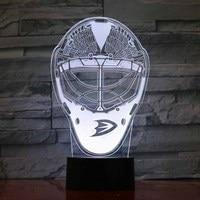 Creative 3D Ice Hockey Helmet Desk Lamp Usb Colorful Gradient Led Night Light Child Room Decor