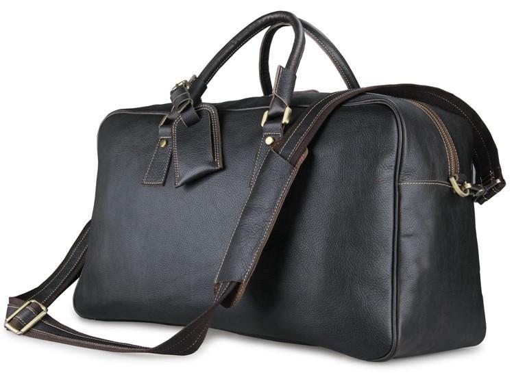 J.M.D Imported Top Layer Cow Leather Bag Large Capacity Travel Duffel Bag Totes Shoulder Bag 7156LA