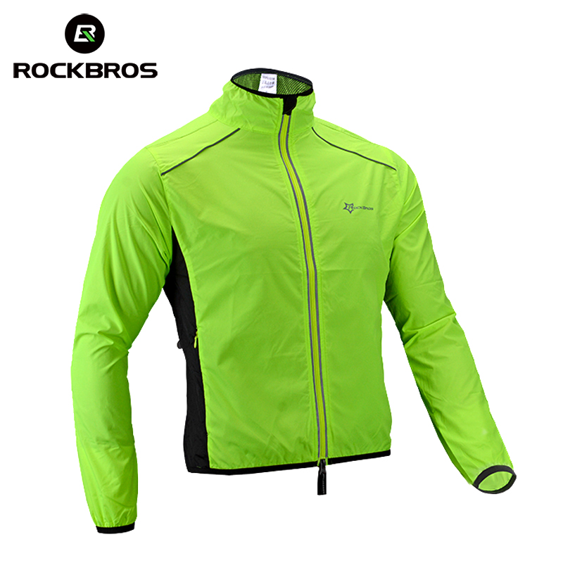 running - ROCKBROS Running Jacket Windproof Vest Cycling Sports Raincoat Jersey Hiking Rainproof UV Protection Quick Dry Coat Winter Men