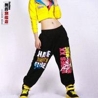 New Fashion Autumn Winter Harem Hip Hop Dance Pants Women Sweatpants Costumes Letter Female Sports Trousers