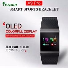 Trozum X9 Pro Цвет ЖК-дисплей умный Браслет Приборы для измерения артериального давления кислорода монитор сердечного ритма дистанционного управления вызова SMS оповещения для iOS и Android