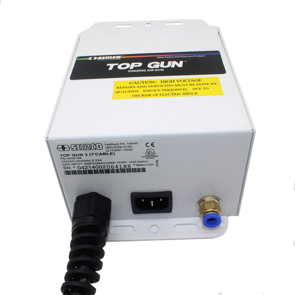 SIMCO TOP GUN Efficient Remove Electrostatic Lonizing Air /Electrostatic Dusting Lonizer Blowers Static Eliminate