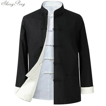 Traditional chinese jacket Traditional mandarin collar tang jacket mandarin collar suit men clothes 2018 Q600