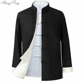 Traditional chinese jacket Traditional mandarin collar tang jacket mandarin collar suit men clothes 2018 Q600 - DISCOUNT ITEM  40% OFF All Category