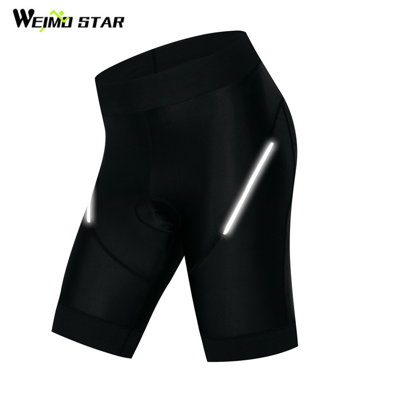 Weimostar Women Cycling Shorts 4D Gel Pad Black Riding Tight Bicycle Short Shockproof MTB Bike Shorts Reflective culote ciclismo