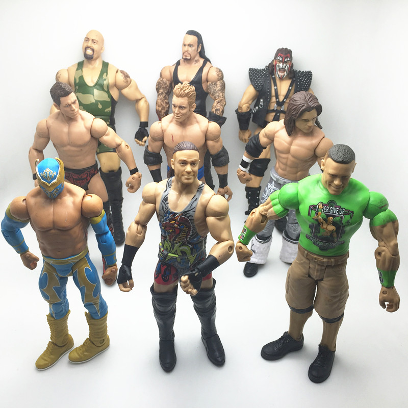 TSMIYOO 5PCS/Lot different characters occupation wrestling gladiators wrestler action figure toy Randomly Sending high quality classic toy super movable wrestler occupation wrestling fighter action figure mask toys doll accessories