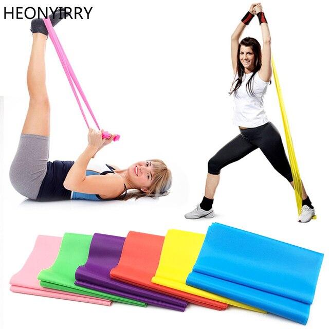 1.2 m elastyczna joga Pilates guma Stretch taśma do ćwiczeń ramię powrót nogi Fitness grubość 0.35mm odporność na pasek darmowa wysyłka