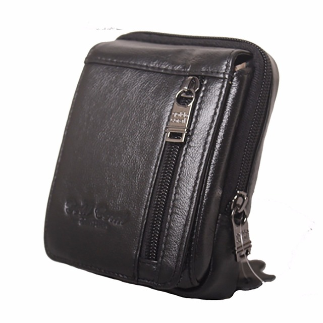 Genuine Leather Waist Bag Men Hip Purse Cell Phone Mobile Case Cover Skin Belt Small Bags Famous Brand Male Cowhide Fanny Pack