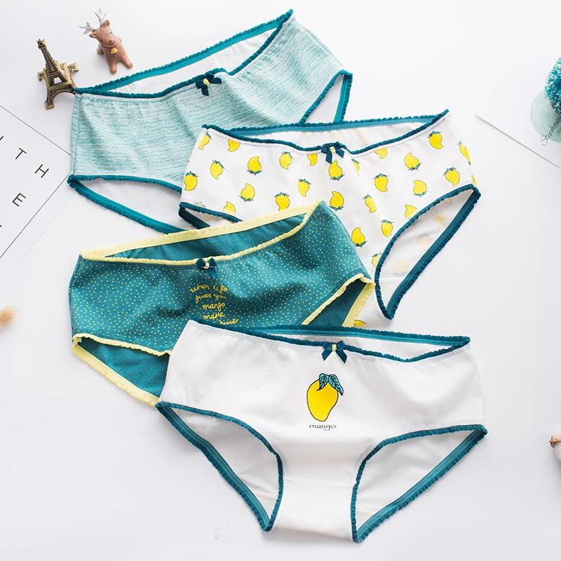Mango Print Cotton Women   Panties   Briefs Underwear Women Cotton Women Underwear   Panty   Sexy   Panties   Lingerie Tanga Bragas Mujer