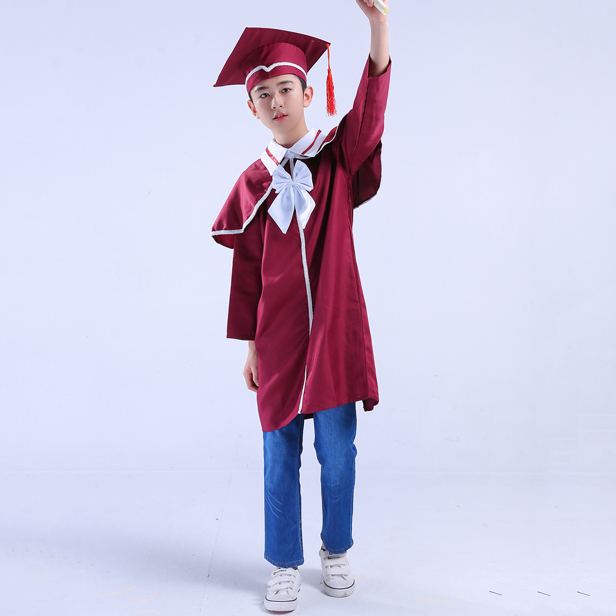 Children\'S Graduation Gown And Cap Doctoral Cap And Gown For Party ...