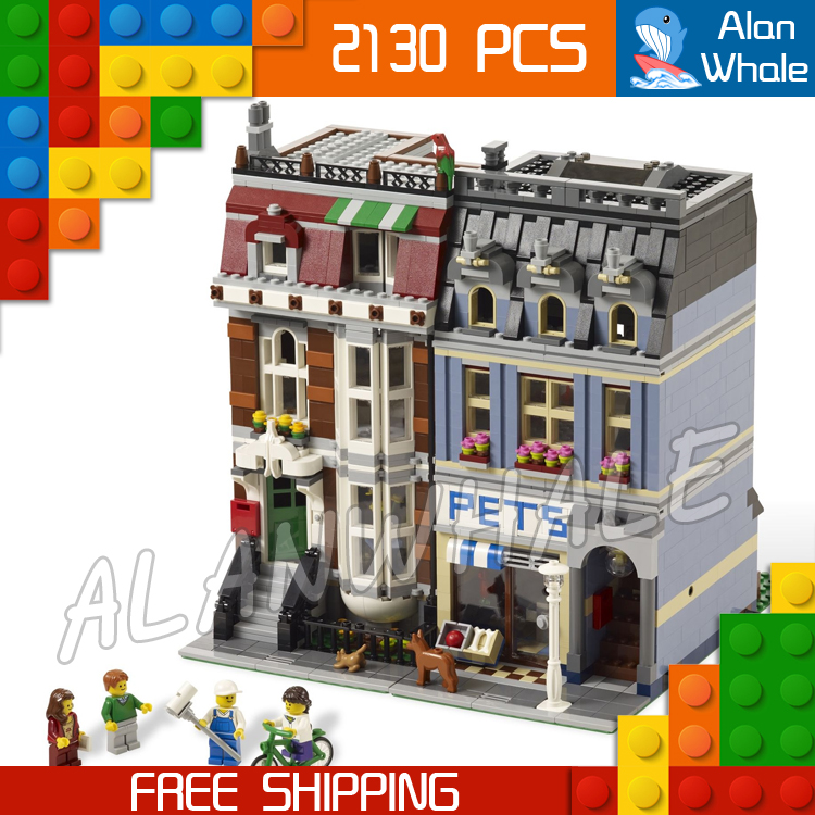 2130pcs Creator Expert Pet Shop Construct Collection DIY 30015 Figure Building Blocks Asssemble Toys Compatible with LegoING