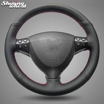 Shining wheat Black Genuine Leather Car Steering Wheel Cover for Mercedes Benz A-Class A160 A180 2004-2012