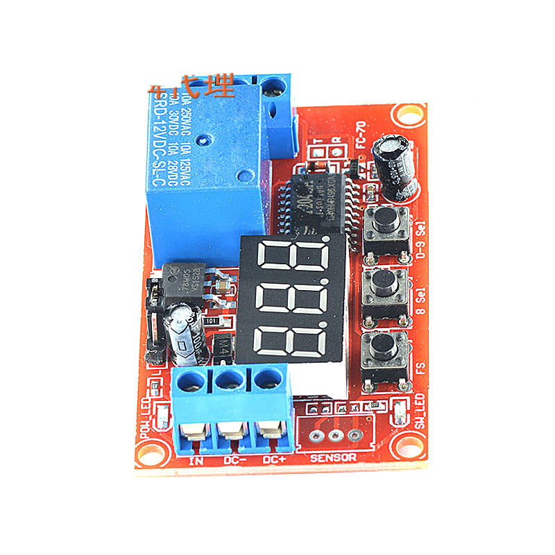 1Pc Hot sale The multi-function digital display can be used to trigger the pulse delay relay module 5V thermo operated water valves can be used in food processing equipments biomass boilers and hydraulic systems