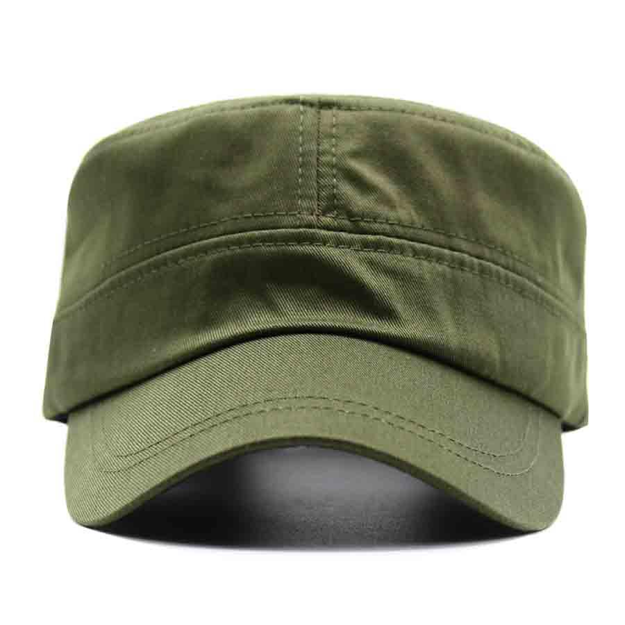 898bdf7998b LIBERWOOD Men s Tactical Hats Cotton Flat Top Peaked Baseball cap GI Army  Corps Hat Patrol Cadet Cap Sun Visor Snapback green -in Baseball Caps from  Apparel ...