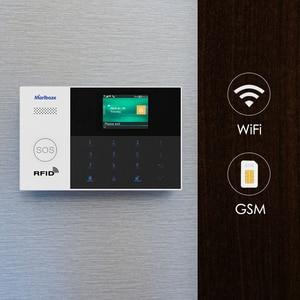 Image 1 - Marlboze WIFI GSM GPRS מעורר מערכת APP שלט RFID כרטיס לנטרל זרוע עם צבע מסך SOS כפתור שפות להחלפה