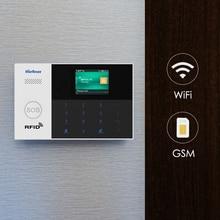 Marlboze WIFI GSM GPRS 警報システムの App リモコン Rfid カードアーム武装解除カラー画面 SOS ボタン言語切替警報システムキット