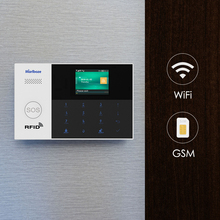 Marlboze sistema de alarma WIFI GSM GPRS, Control de aplicación remota, tarjeta RFID, Arm Desarm con pantalla a color, botón SOS, idiomas conmutables