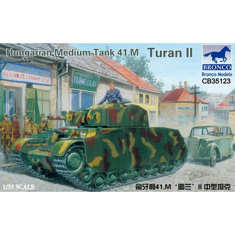 BRONCO CB35123 1 35 Hungarian Medium Tank 41 M Turan II Scale Model Kit
