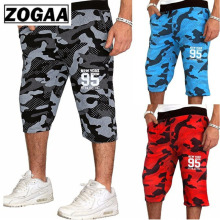 ZOGAA Mens Jogging Fitness shorts blue red Camouflage Sport Shorts Sweatpants Running Training youth 2018 Summer men Gym