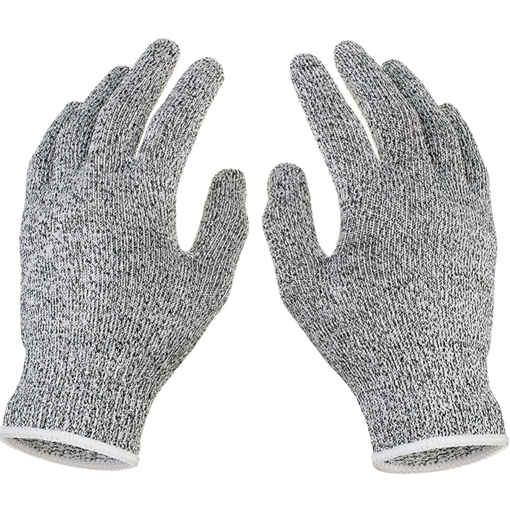 Efficient Level 5 Anti-cut Gloves Safety Cut Proof Stab Resistant Stainless Steel Wire Metal Butcher Cut-resistant Safety Hiking Gloves Hiking Gloves